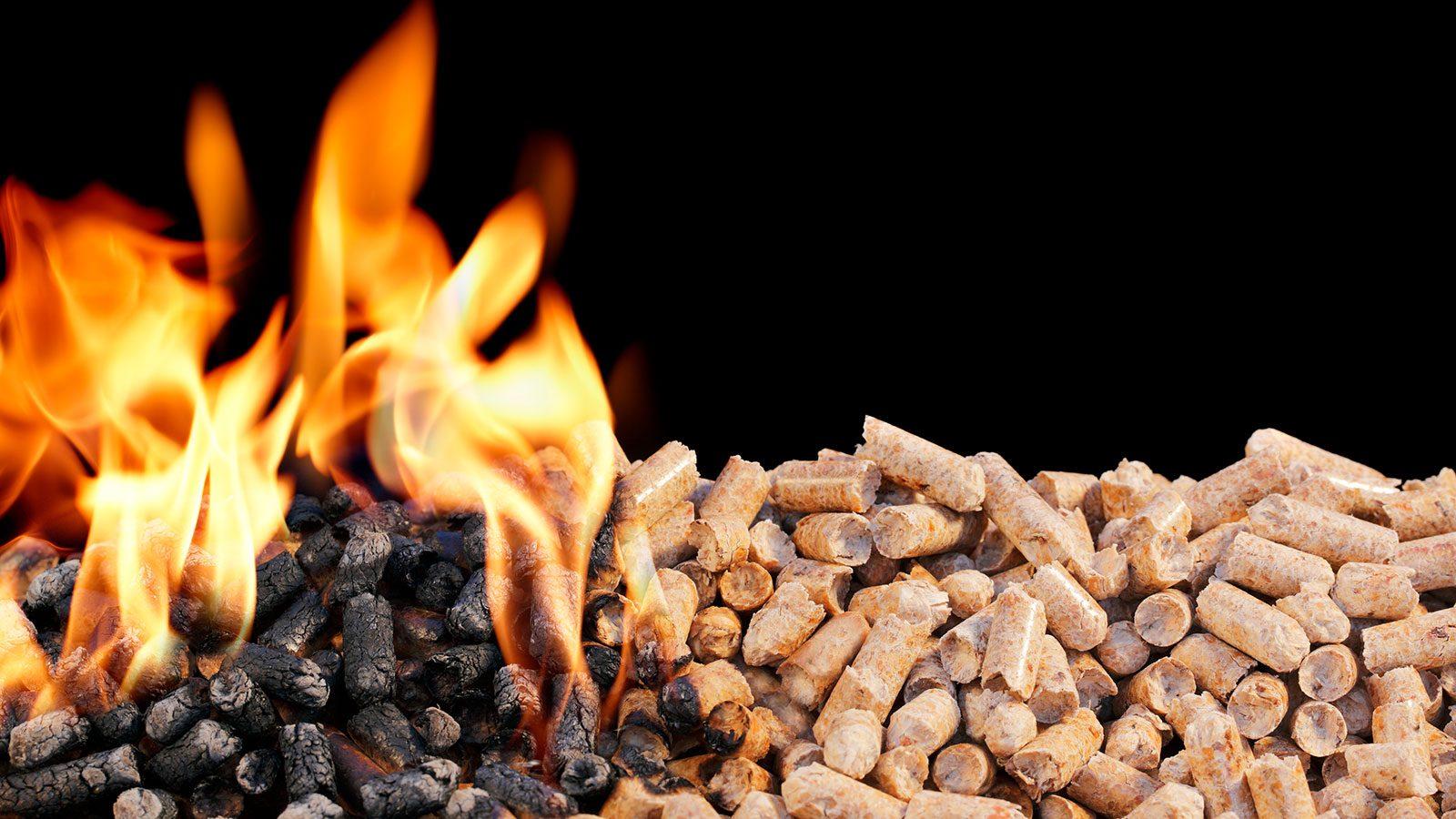 Biobrændsler til kraftvarmeværker. Foto: Colourbox
