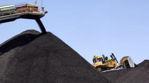 Kul lager ved minen Kayenta i Arizona, USA.