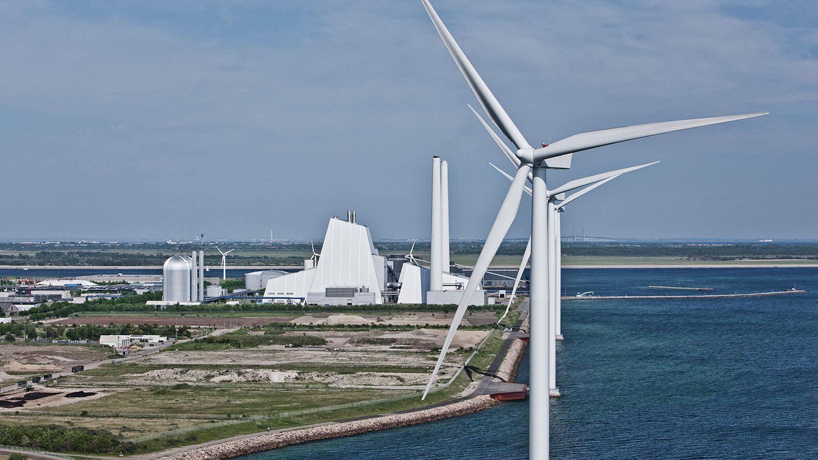 Avedøreværket er et kraftvarmeværk, der ligger syd for København. Foto: DONG Energy A/S.
