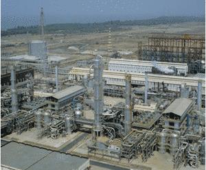 Indisk ammoniak-anlæg, der kan producere 3000 tons ammoniak om dagen.