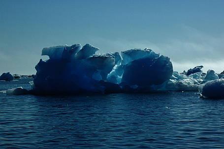 Isbjerge er isen ved at smelte