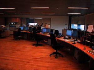 Kontrolcentret med SCADA-anlæg fra ABB. Kilde: ABB A/S.