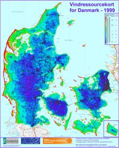 Vindressourcekort Danmark