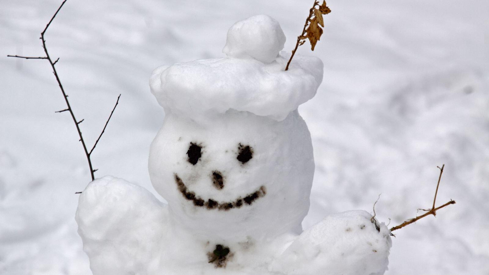 I dette forsøg kan du lave din egen lille snemand af hjemmelavet sne. Foto: Colourbox