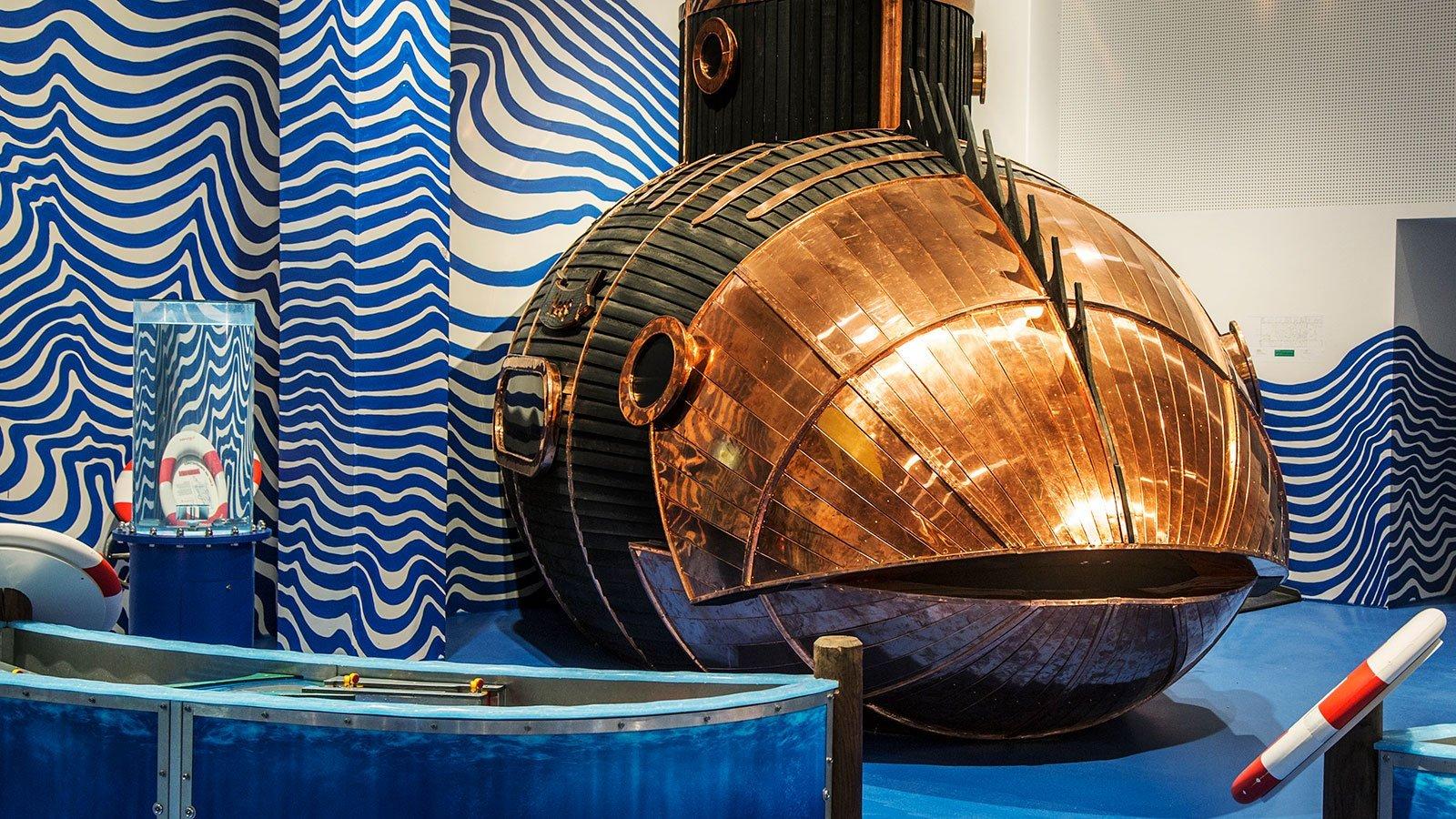 Ubåden ved Straden. Foto: David Trood.